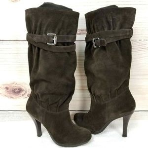 Michael Kors PARKER Suede Platform High Heel Boots